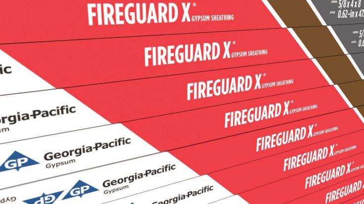 ToughRock Fireguard X Fire-Rated Gypsum Sheathing