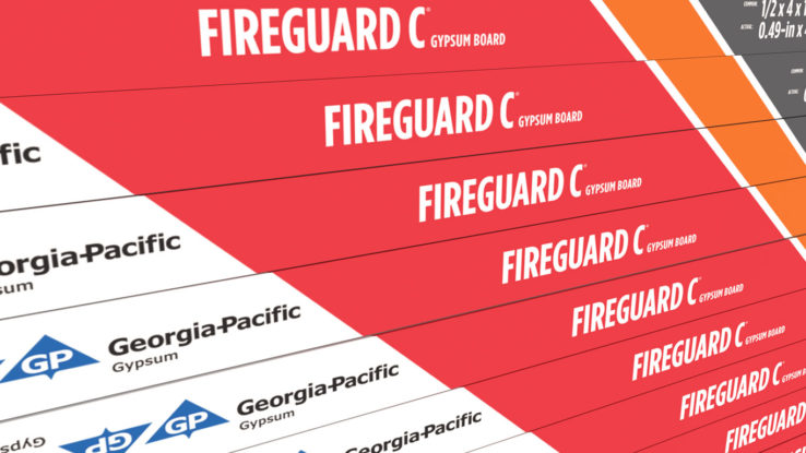 Fire-Rated Gypsum Board Type C ToughRock FireGuard