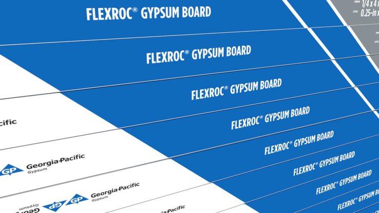 ToughRock Flexroc Flexible Gypsum Board for Curved Installations