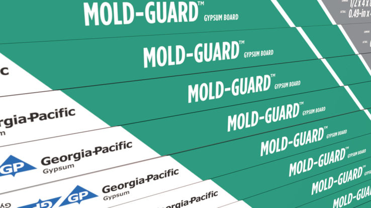 ToughRock MoldGuard Moisture Resistant Drywall Gypsum Board