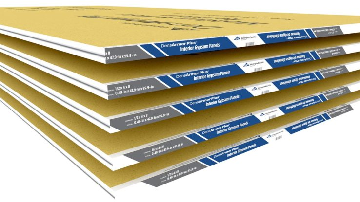 DensArmor Plus Moisture-Resistant Interior Gypsum Drywall Panels