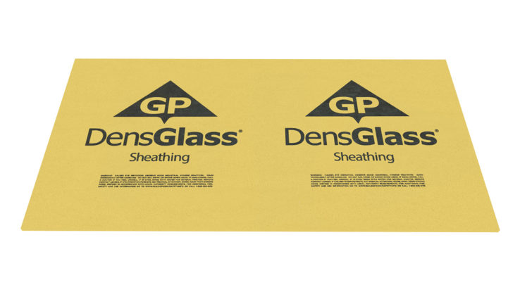 Georgia-Pacific DensGlass Moisture-Resistant Gypsum Sheathing