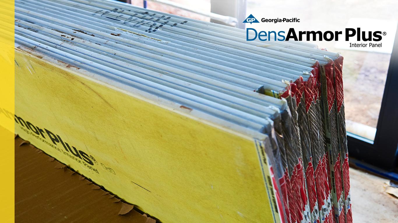 DensArmor Plus Impact Resistant Sheathing