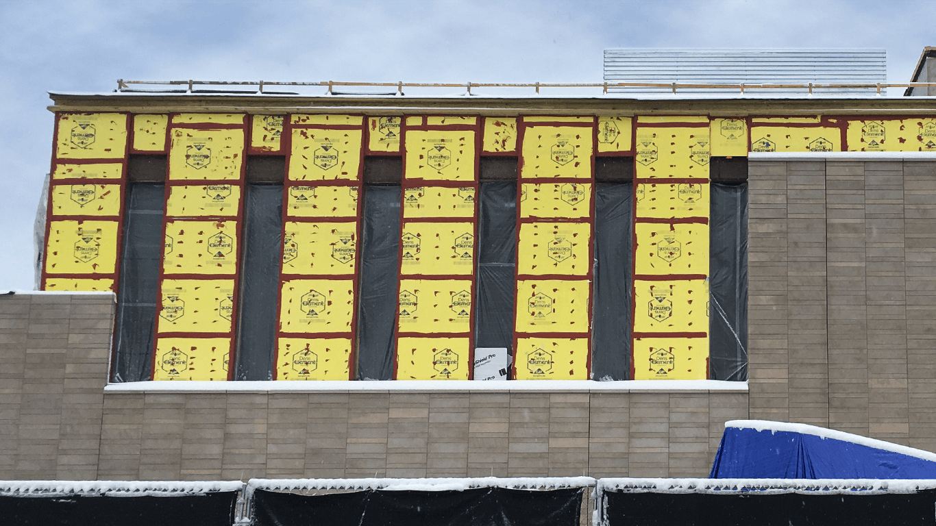The Greeley City Center project was completed faster for less money, thanks to the contractor's choice to use DensElement® Barrier System.
