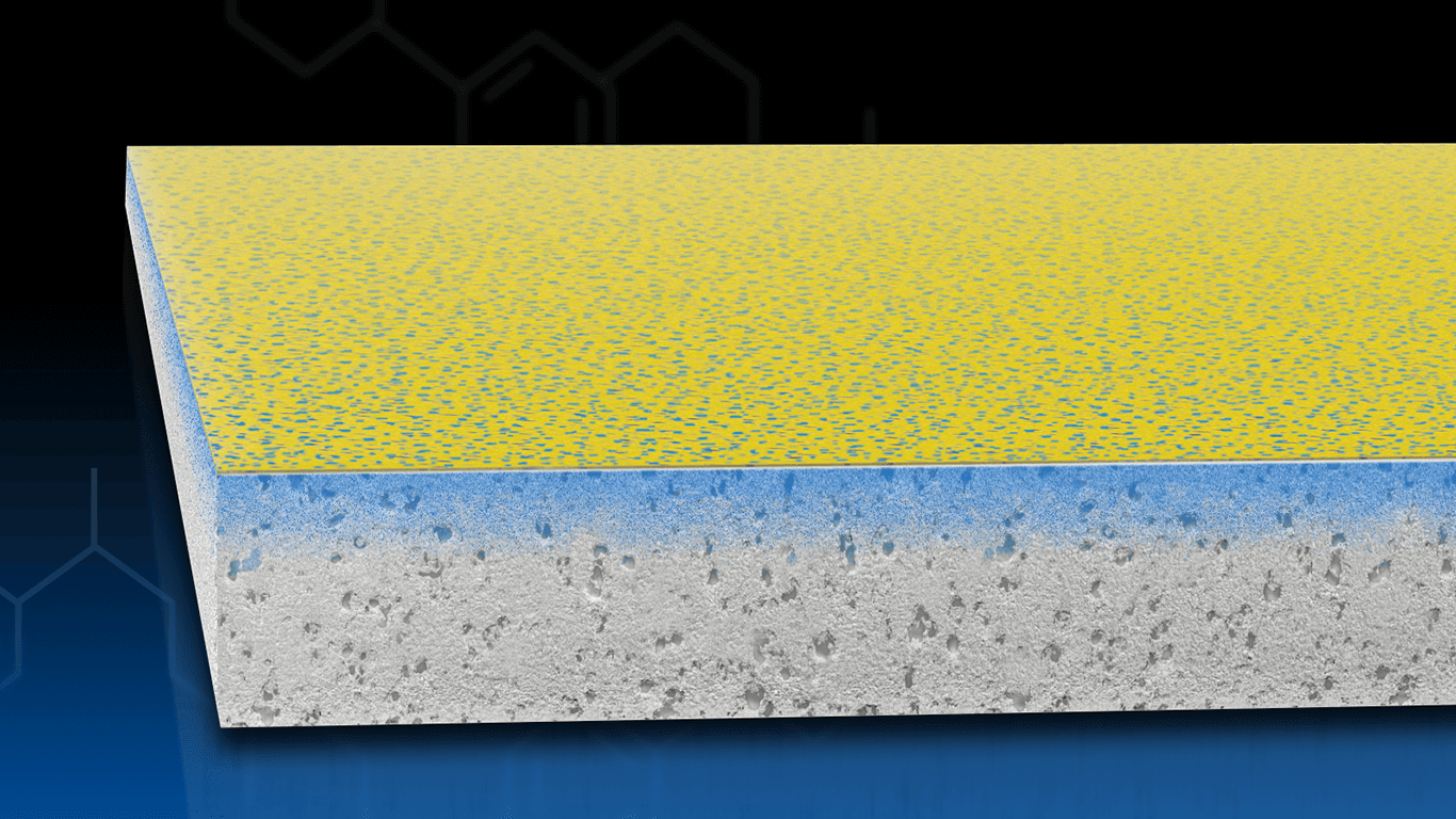 AquaKor™ Technology integrates the water-resistive barrier and air barrier into the gypsum core and fiberglass mat creating a hydrophobic, monolithic surface that blocks bulk water but allows vapor to pass through.