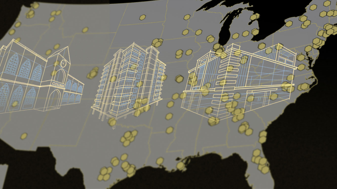 Explore our interactive project map to see DensElement® Barrier System in envelope-assembly action in a wide variety of building jobs across the U.S.